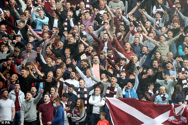 Hearts (above) and Motherwell have written to the SPL complaining about a lack of away fans at Celtic and Rangers