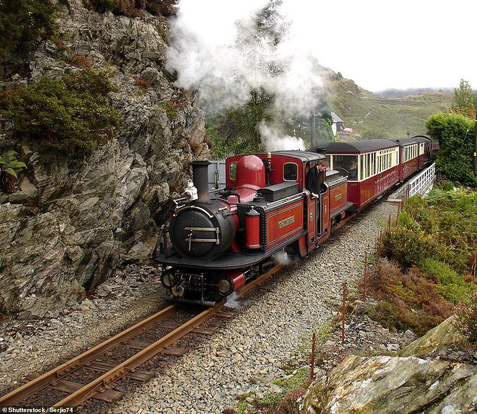 According to Benedict, the Ffestiniog Railway, pictured, has 'buckets of Victorian/Edwardian charm'