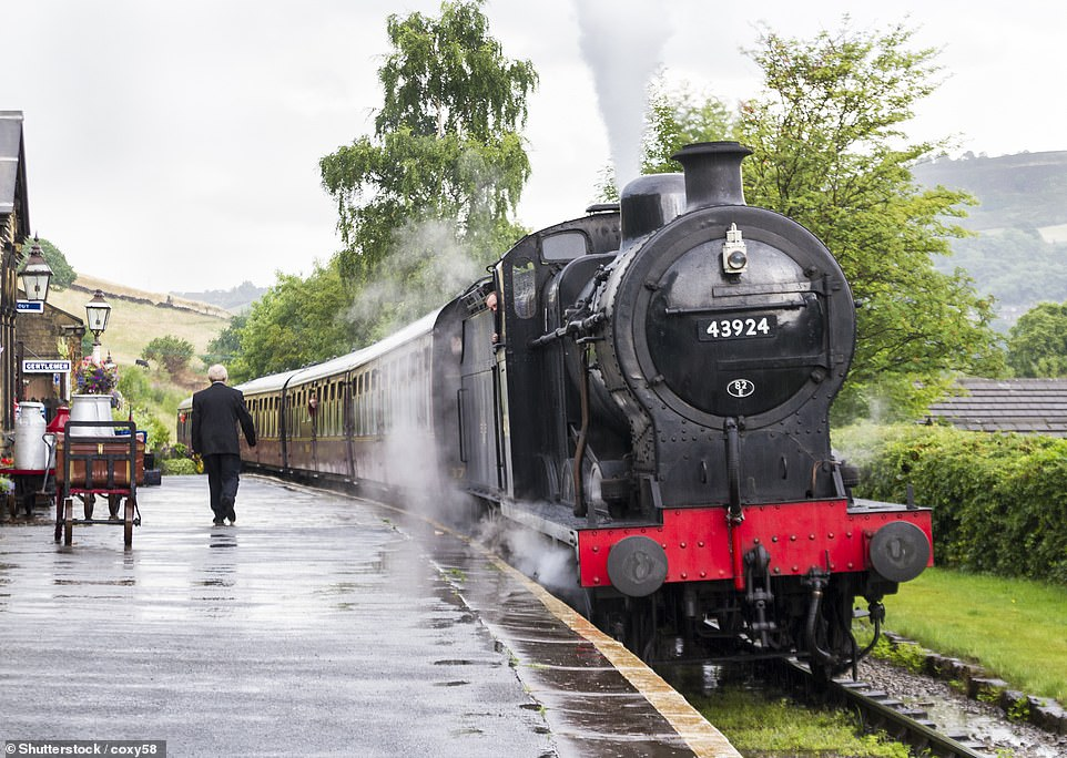 The Keighley & Worth Valley Railway, pictured,was made famous by the film The Railway Children