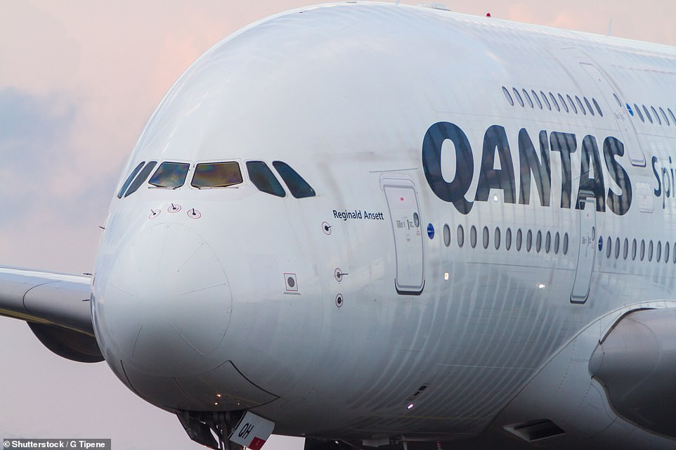 Qantas is top in Australia/Pacific and eighth worldwide. Pictured above is a Qantas A380 taxiing at Sydney Airport