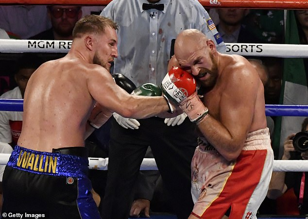 Next up for White is Otto Wallin (left), who famously caused Fury all kinds of problems