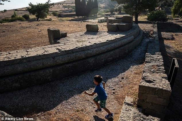 The 'VIP box seats' were discovered during excavations of the Pergamon Amphitheater in the ancient city of Pergamon in the western Ismir province of Turkey.