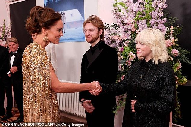 Meeting the royals! Billie and Finneas as they met Catherine, Duchess of Cambridge last week