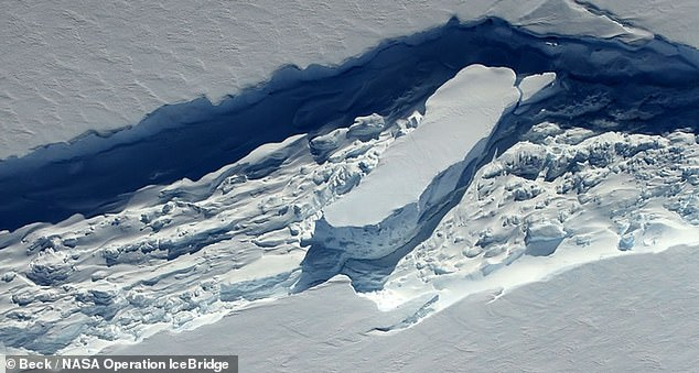 Experts have determined that the Delaware-sized A68 iceberg that split off from Antarctica's Larsen C ice shelf in July 2017 was caused by the thinning of the layer of slushy frozen water that would usually heal rifts