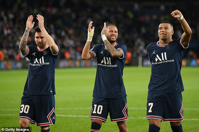 The Parisians' outrageous front three of Messi, Mbappe and Neymar can now push on