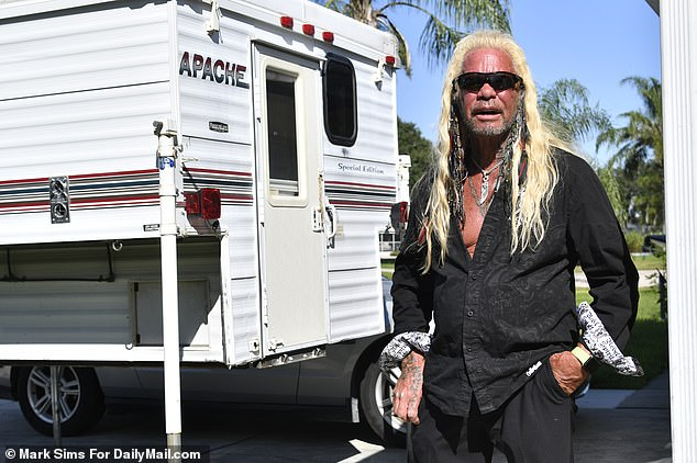 Dog the Bounty Hunter, real name Duane Chapman, joined the search for Brian on Saturday and received a tip about the Laundrie's stay at Fort De Soto