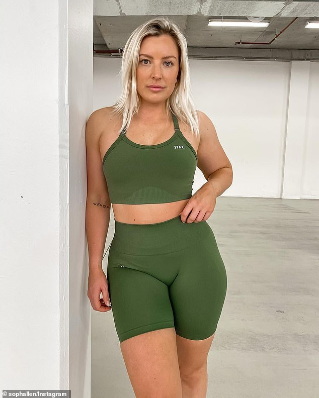 Sydney personal trainer Sophie Allen (pictured) revealed how she lost six kilograms in only eight weeks