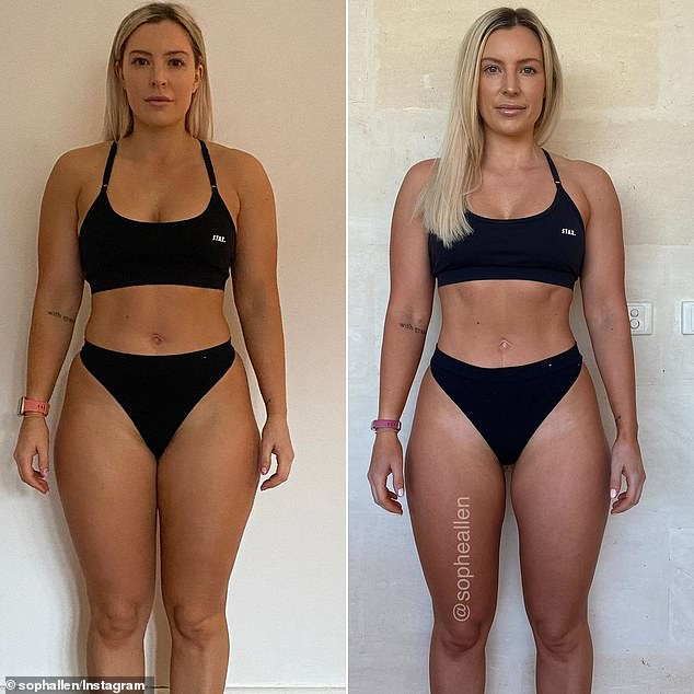 To shed the weight, she simply reduced her calorie intake and followed the pattern consistently, increased her daily step count and maintained her workout routine