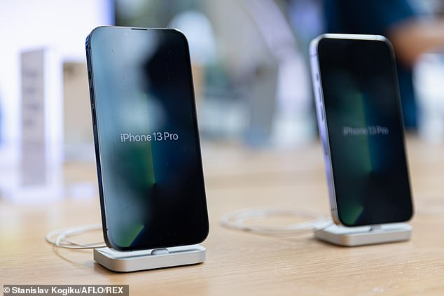 The new iPhone was released on September 24, receiving great reviews of the new environmentally packaging (pictured, the iPhone 13 Pro model)