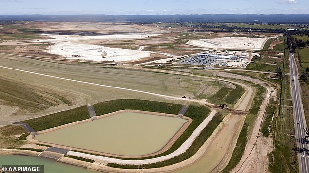 The government paid about $30million for a 12-hectare plot for the Western Sydney Airport (pictured) in 2018