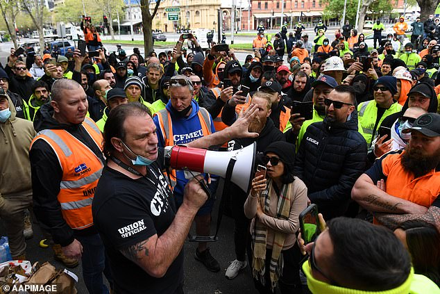 CFMEU has become a Tier-1 exposure site after protesters after staff become infected with Covid-19