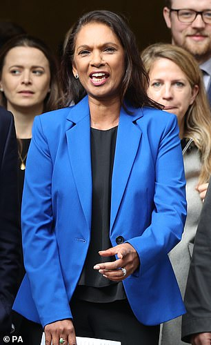 Gina Miller took to social media yesterday to ask: 'In the midst of fuel shortages. People desperately worried about rising cost of living/eating/heating, empty shelves - anyone seen Boris Johnson?'