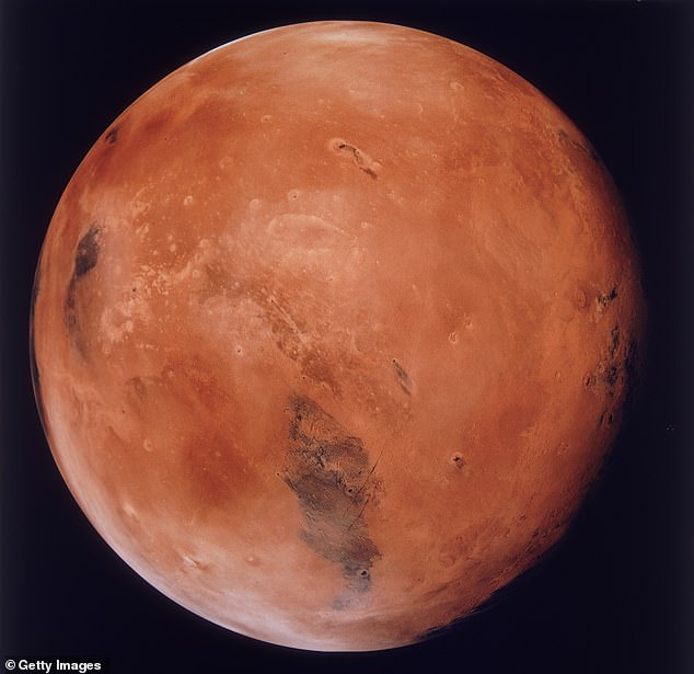 Mars was not always one big dry rusty rock like it is today.  Perhaps about 4.3 billion years ago, Mars would have had enough water to cover its entire surface in a liquid layer about 450 feet (137 m) deep.