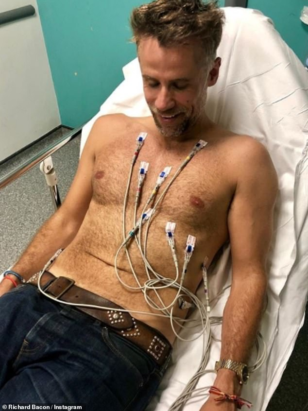 Richard Bacon himself suffered a serious health scare in 2018 after he was placed in a medically-induced coma following a serious lung infection