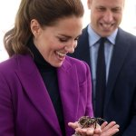 Purple reign! Kate Middleton dons a vibrant magenta pant suit as she joins Prince William 💥👩💥