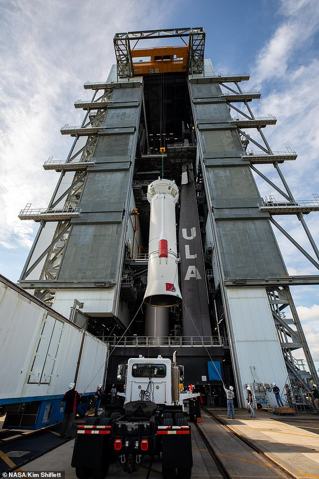 It is scheduled to launch on Saturday, October 16 at 05:34 ET (10:34 BST) on a United Launch Alliance Atlas V rocket from Cape Canaveral Space Force Station in Florida.