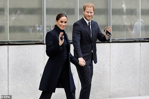 Prince Harry and Meghan Markle arrived back in Santa Barbara on a private jet late Saturday after a two-day jaunt in the Big Apple. DailyMail.com can reveal the plane is owned by direct marketing company Guthy-Renker