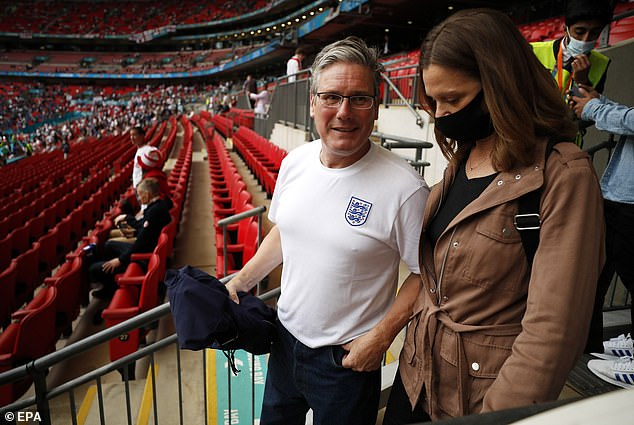 Victoria was also seen with an Arsenal supporter at the Euro 2020 final at Wembley earlier this summer