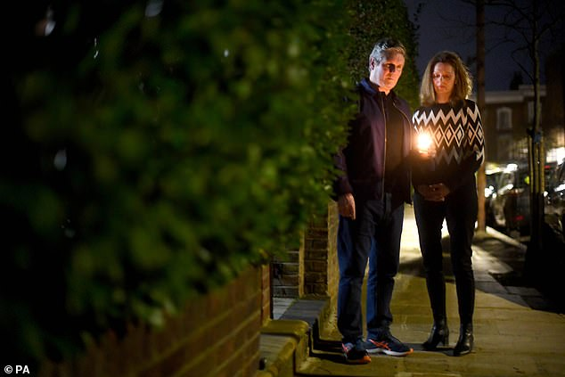 The couple attended a candlelight vigil for Sarah Everard along with Clap for Carers in March this year (pictured)