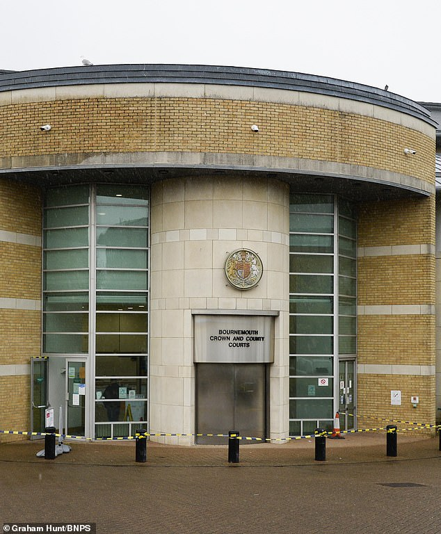 It was determined by a judge at Bournemouth Crown Court (pictured) that Rhodes had £120,122 in assets from her illicit purchases that can be sold