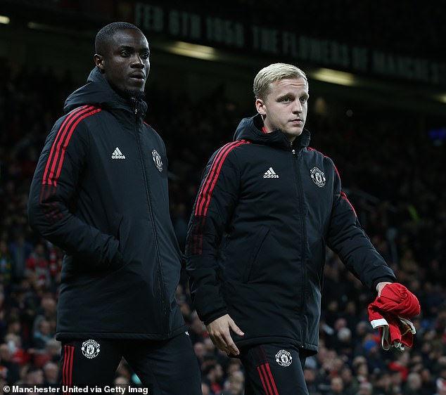 Harry Maguire is United's captain and Victor Lindelof has been preferred as his preferred partner, leaving Eric Bailly (left) short of opportunities