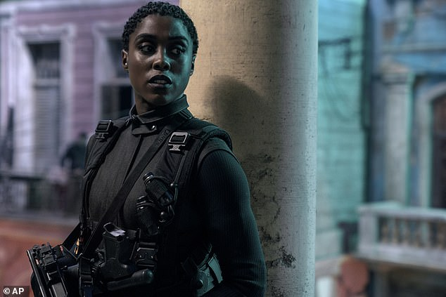 The new film, which had its world premier on Wednesday, does break the mould with the appearance of Lashana Lynch as a fellow 00 agent, Nomi.