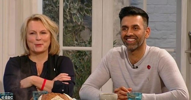 A picture of Aktar as seen at the Saturday Kitchen with Jennifer Saunders in 2017