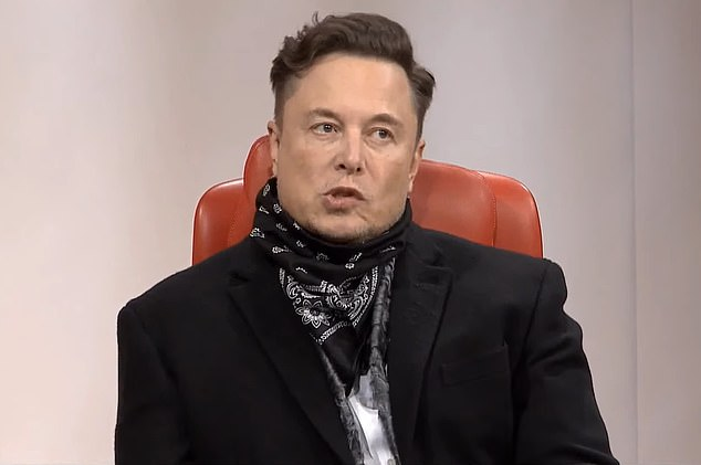 Pictured, SpaceX founder Elon Musk.  His company has been awarded a contract from NASA to build a lunar lander - at the expense of Blue Origin