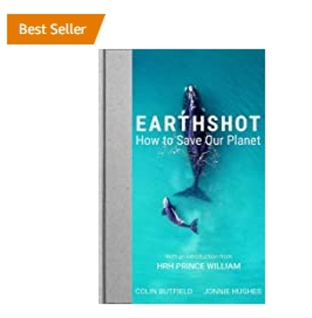 The historian's remarks come amid great success for William as his new book (pictured) about his ambitious Earthshot prize has topped the charts as it was released today