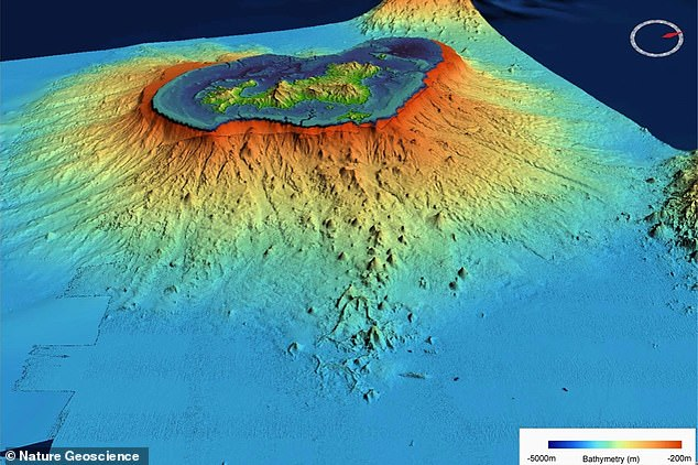 The seismic event that gave rise to the new volcano began on May 10, 2018 and was followed by a 5.8 magnitude earthquake within a few days.  It shook nearby islands and scientists soon realized it was the result of a new volcanic event under the sea.
