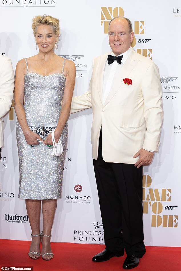 On Friday 29 September, 63-year-old Prince Albert (pictured with Sharon Stone, at right) attended a charity screening of the new James Bond film at the Monte Carlo Opera, his latest public appearance without his wife.