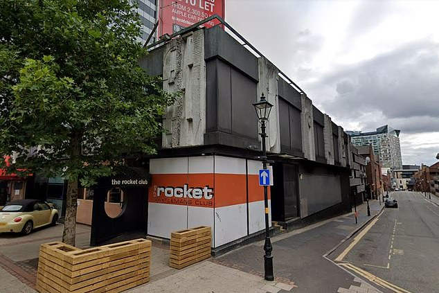 The Rocket Club in Birmingham where 'up to four men' allegedly raped a woman on Sunday. The strip club has had its licence suspended following an emergency hearing