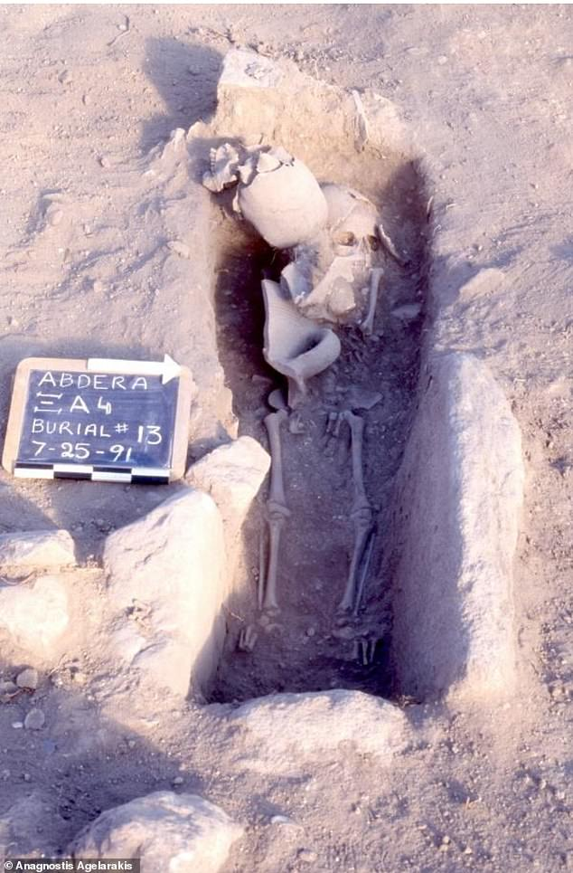 Both sets of relics were found in a cistern, or stone coffin, in the middle of a 20-plot cemetery in the fort, which had been covered with earth for centuries.