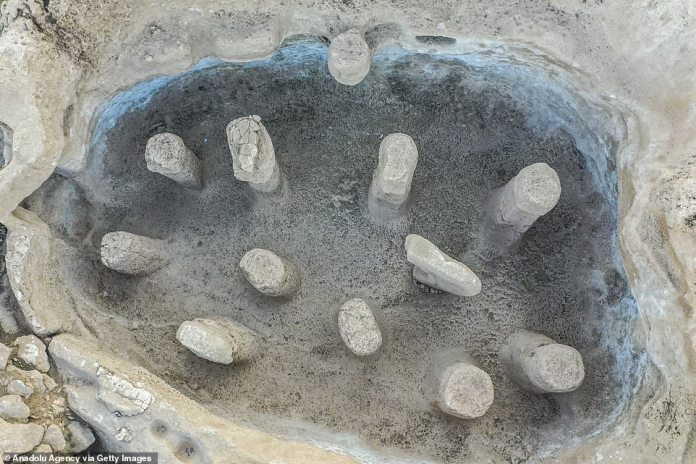 It is unclear how the sculptures were made, but like Göbekli Tepe, experts believe that hunter-gatherers were responsible.