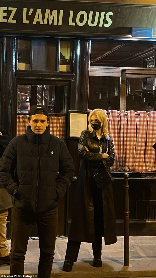 Jet-setting: Brooklyn and Nicola head to Paris on Thursday and they haven't hesitated to immerse themselves in the culture