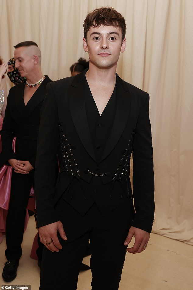 Exam: Tom Daly elaborates his 'horrible' secret Covid-19 battle, which saw him being rushed to hospital and left in fear he might 'die' (pictured at last month's Met Gala)