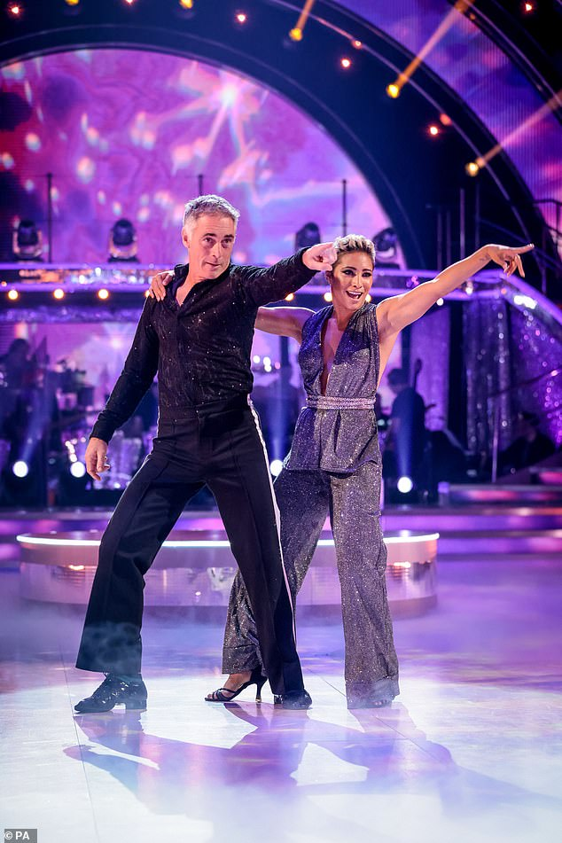 Star: The Sense and Sensibility The 55-year-old actor danced a disco to If You Could Read My Mind by Ultra Nate, Amber and Jocelyn Enrique with his partner Karen Hauer.