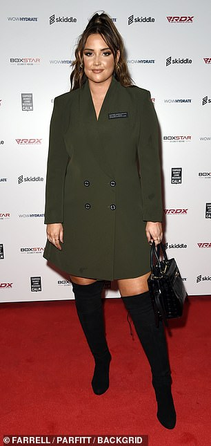 Wow!  Jacqueline Jossa, 28, oozes glamor as she arrives at the Boxstar event in Manchester on Saturday