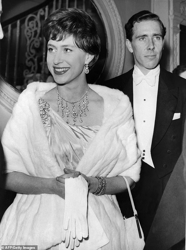 Princess Margaret's behavior may have been 'very unpredictable', her artist friend Derek Boshier has claimed.  She is pictured with her husband Antony Armstrong-Jones in London, 1960