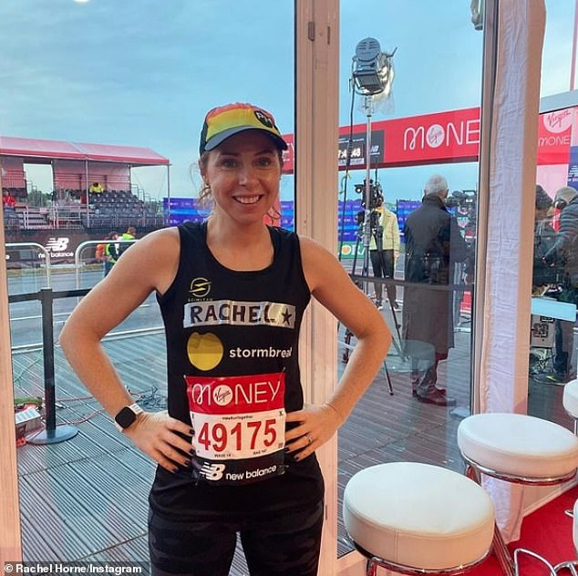 Dream Team: Rachel Horne, newsreader who appeared on Chris's Virgin Radio breakfast show, running with her co-workers