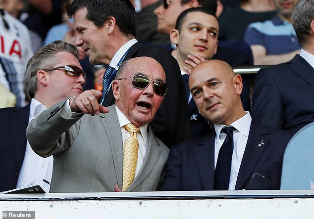 Owners Lewis (L) and Daniel Levy have been in charge of North London since taking over in 2001