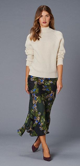 Jumper, £149, and skirt, £150, jaeger.co.uk