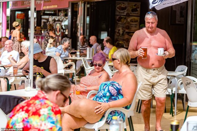 The Spanish town's famous Little England area is buzzing again after months of misery caused by the curbs on travel linked to the pandemic