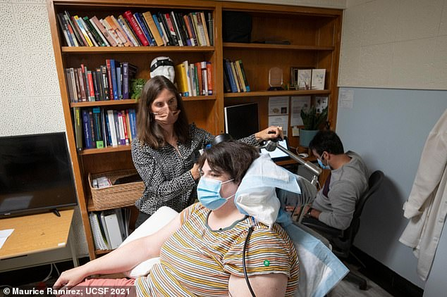 Sarah, Patient in Clinical Trial, on appointment with Dr. Katherine Scangos at the University of California, San Francisco (UCSF) Langley Porter Psychiatric Institute