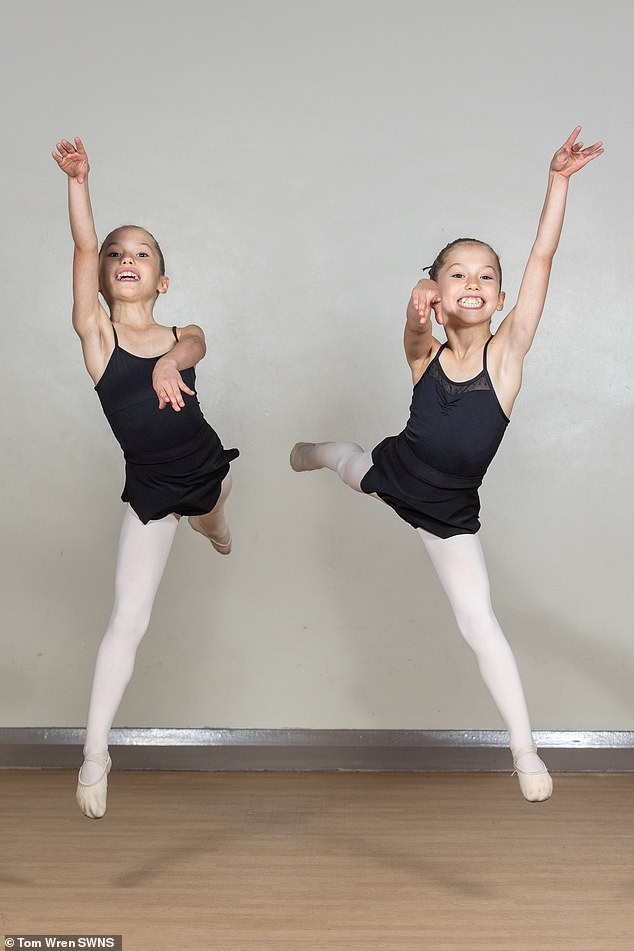 Benefits of the program include advanced ballet training with a view to full-time professional education, according to the website.  picture, evelyn and isla