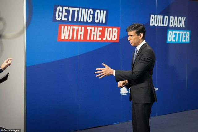 In a round of interviews at Tory conference in Manchester this morning, Chancellor Rishi said the government is ready to take 'short-term' action to help reduce the pressure