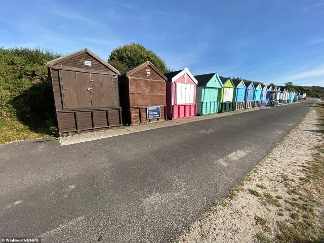 Neighbouring beach huts of this run-down cabin have also been listed in recent days with asking prices between £55,000 and £75,000 but look in much better condition and won't need instant replacing