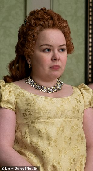 Coughlan starred as wealthy heiress Penelope Featherstone in Netflix's hit TV drama Bridgerton