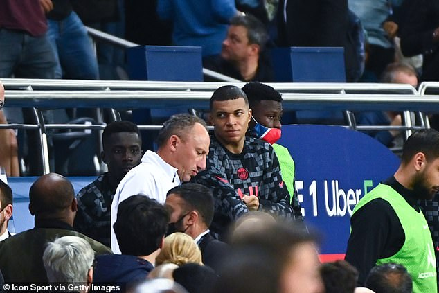 Mbappe was said to have voiced his frustrations over Neymar 'not passing' to the Frenchman