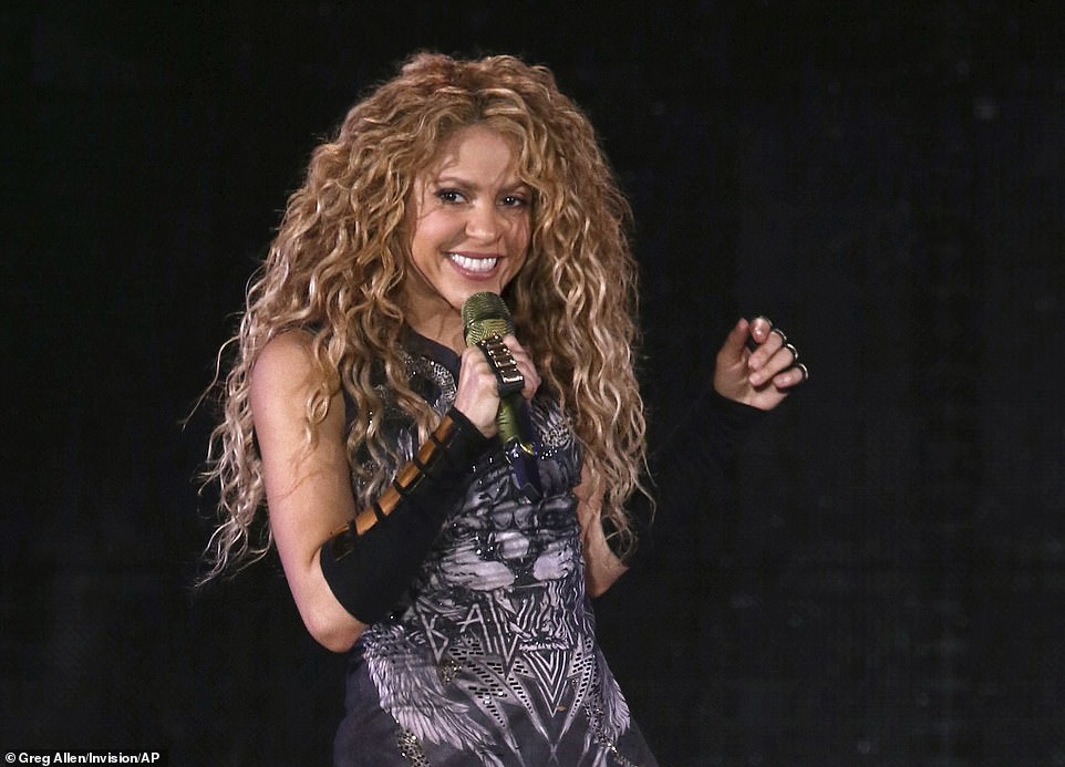 The papers claim Colombian pop star Shakira (pictured) set up offshore entities in the British Virgin Islands to conceal assets